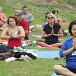 More than 300 people celebrate yoga, conservation