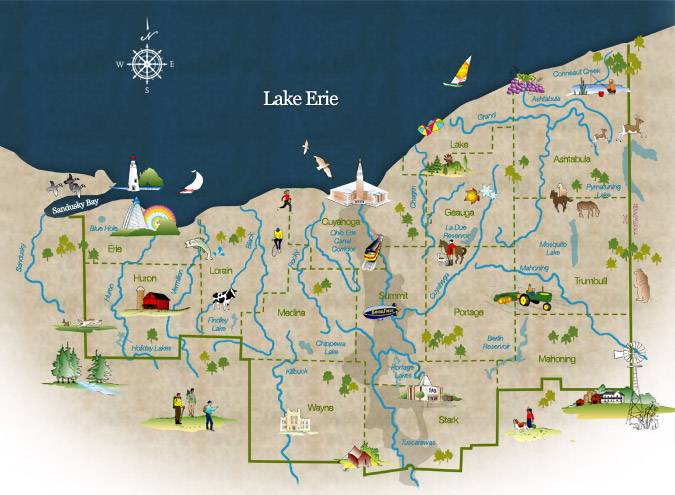 Our History Western Reserve Land Conservancy - Map of northern ohio